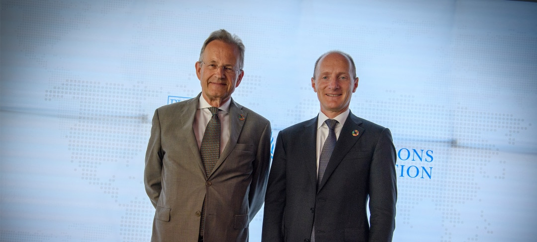 Magnus Groth closed the session together with Michael Møller, the Director-General of the United Nations Office in Geneva
