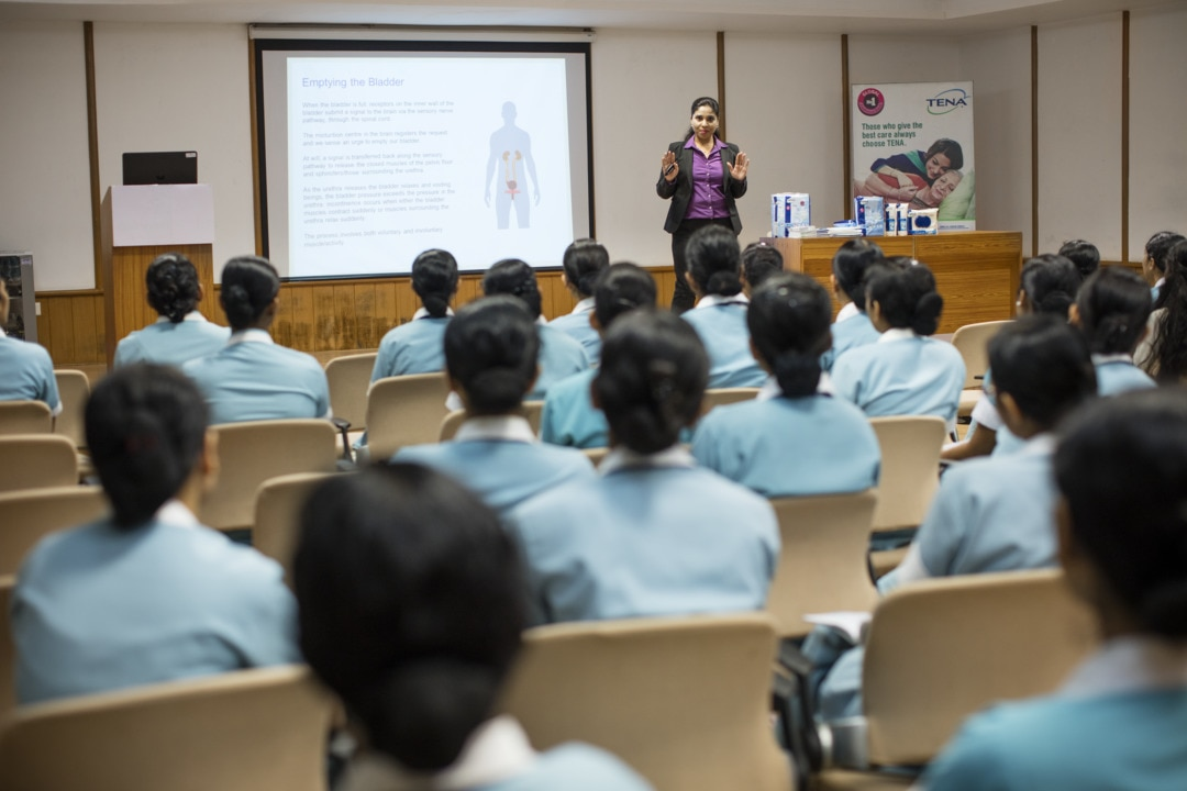 Tena educating nurses