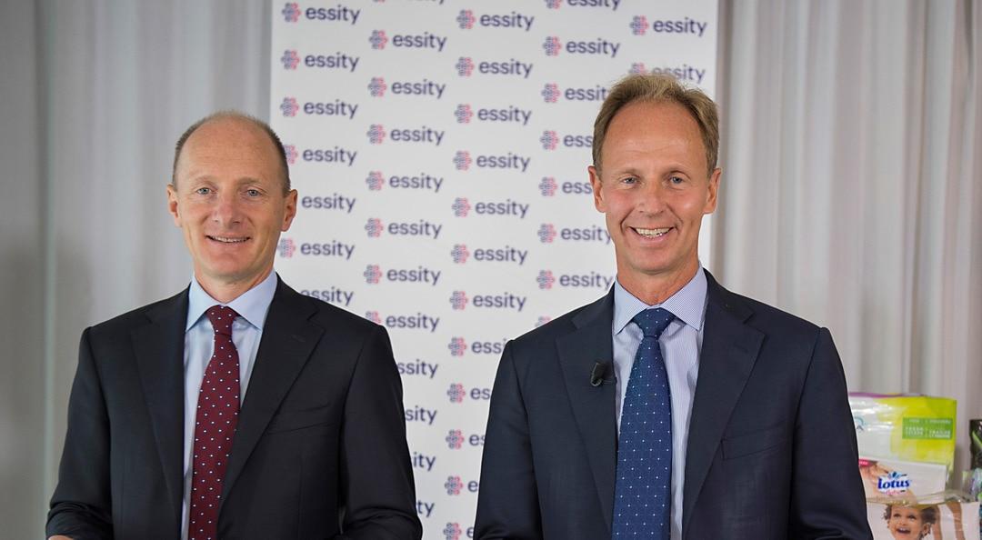 Koncernchef Magnus Groth och ekonomichef Fredrik Rystedt